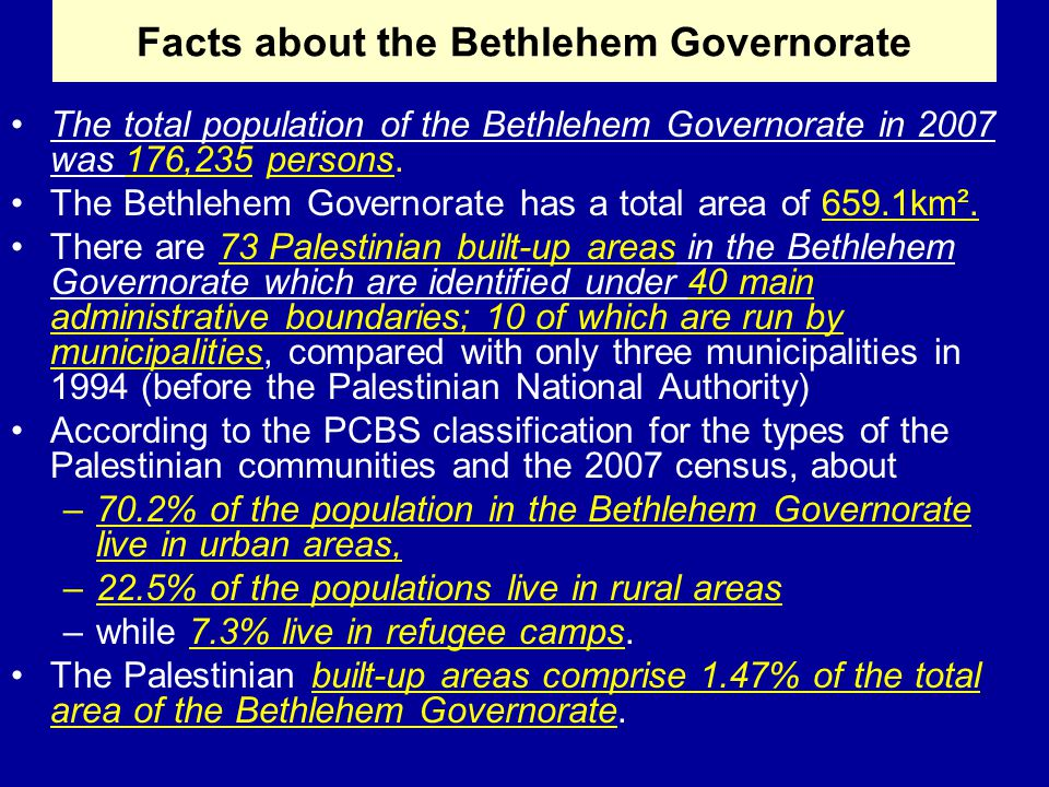 In 2009, the Construction sector ranked first in the number of working persons in the Bethlehem Governorate with 18.1%, then quarrying and manufacturing with 16%.
