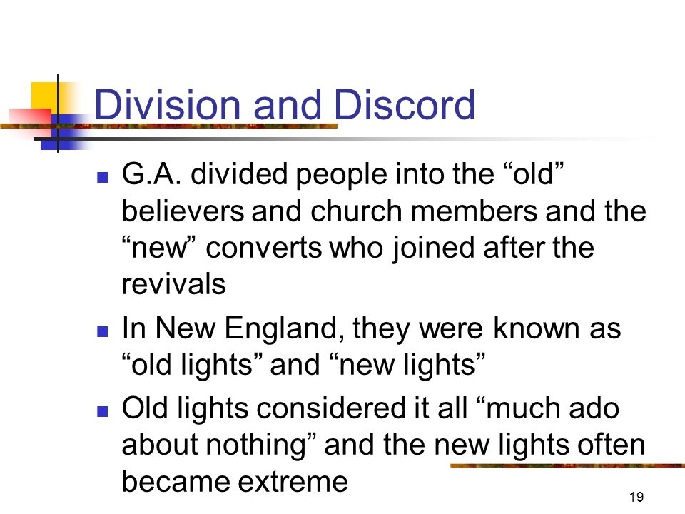 19 Division and Discord G.A.