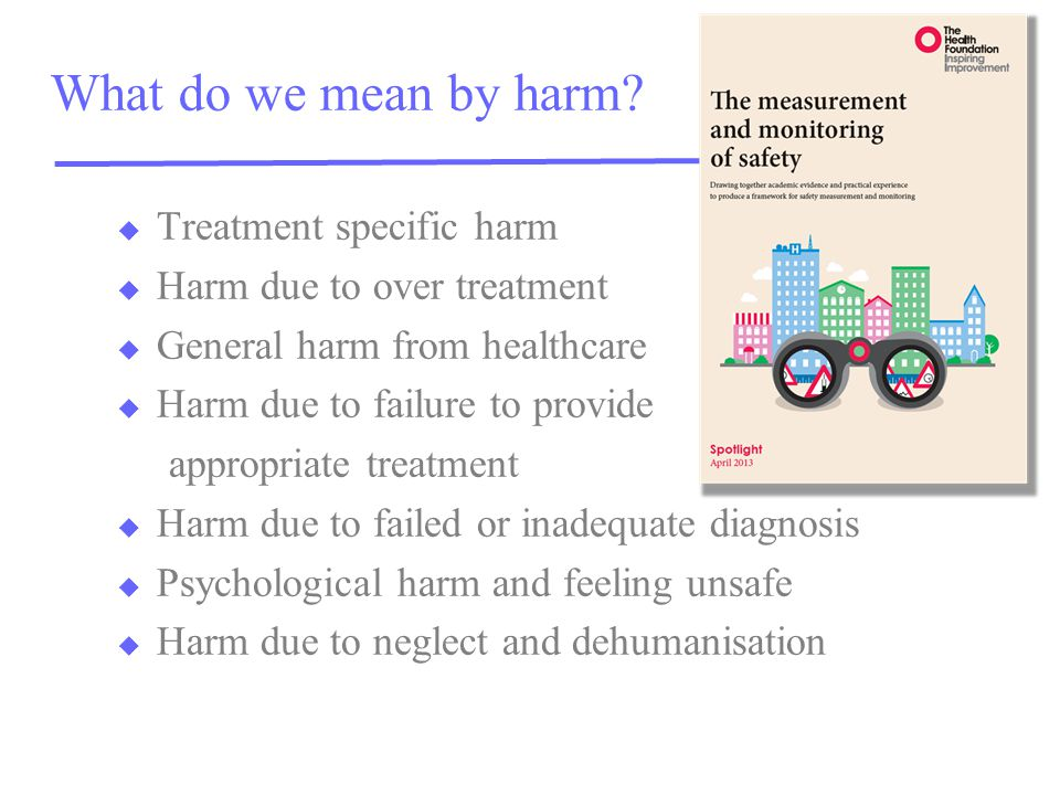 What do we mean by harm.