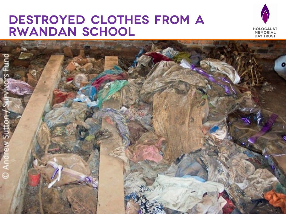 Destroyed Clothes from a Rwandan school
