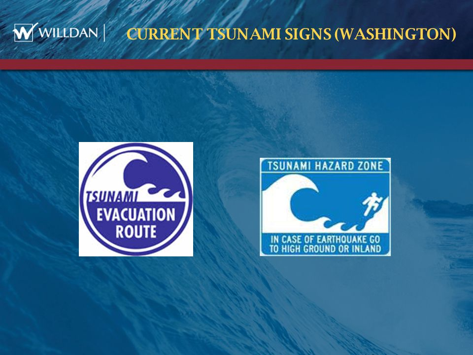 CURRENT TSUNAMI SIGNS (WASHINGTON )