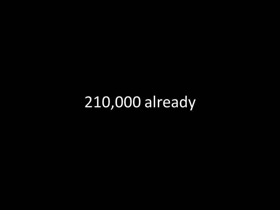 210,000 already