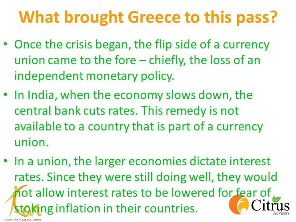 What brought Greece to this pass.