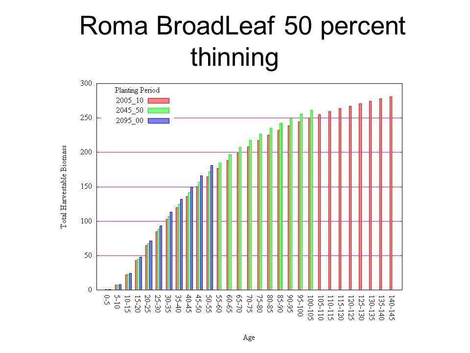 Roma BroadLeaf 50 percent thinning