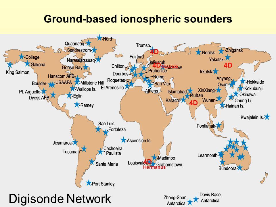 4D Hermanus 4D Digisonde Network Nicosia Ground-based ionospheric sounders