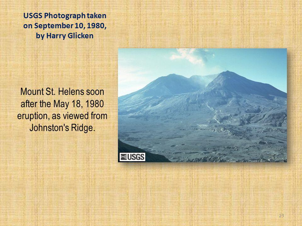 USGS Photograph taken on September 10, 1980, by Harry Glicken Mount St.