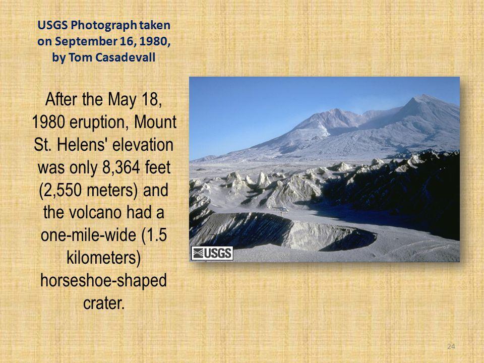 USGS Photograph taken on September 16, 1980, by Tom Casadevall After the May 18, 1980 eruption, Mount St.