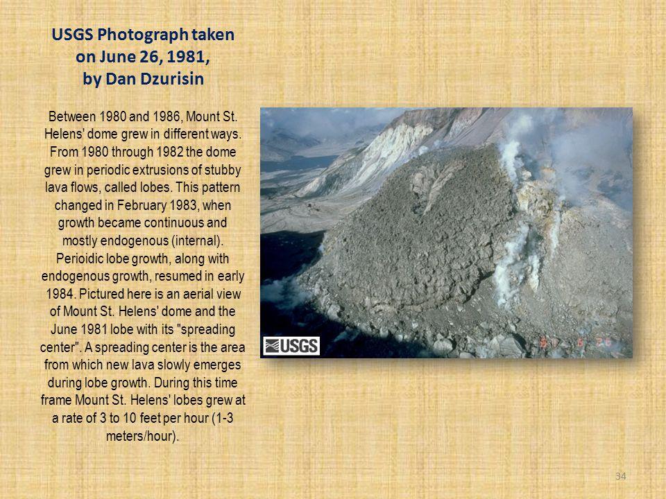 USGS Photograph taken on June 26, 1981, by Dan Dzurisin Between 1980 and 1986, Mount St.