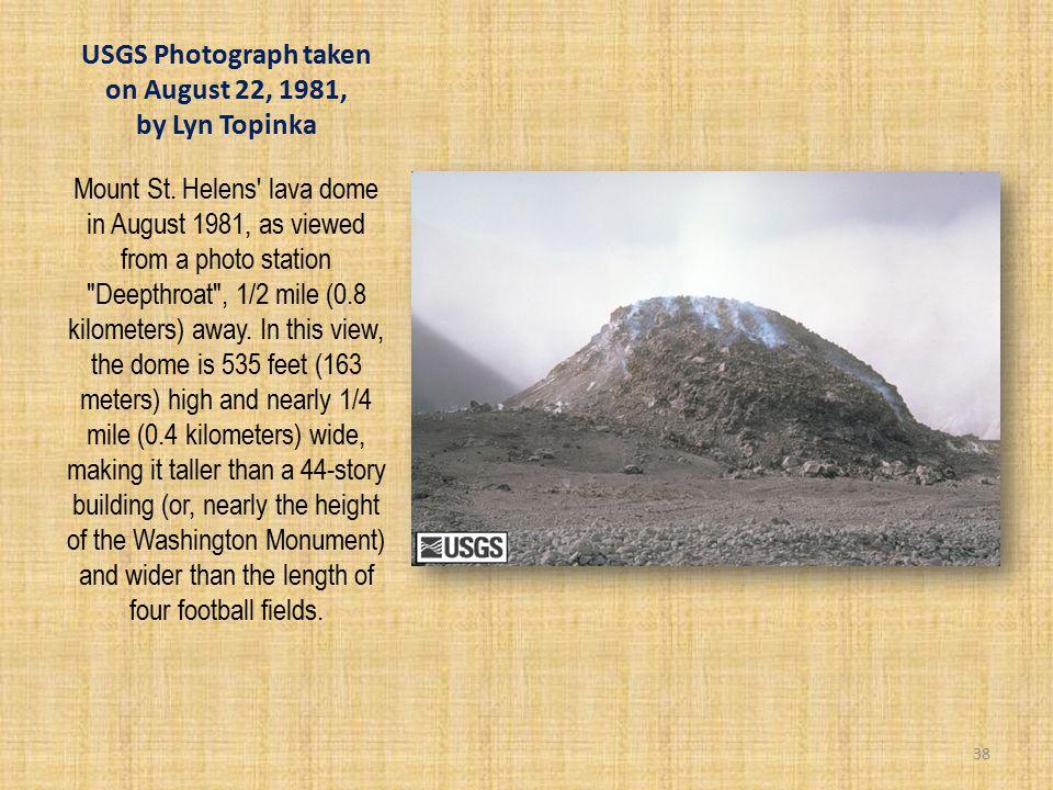 USGS Photograph taken on August 22, 1981, by Lyn Topinka Mount St.
