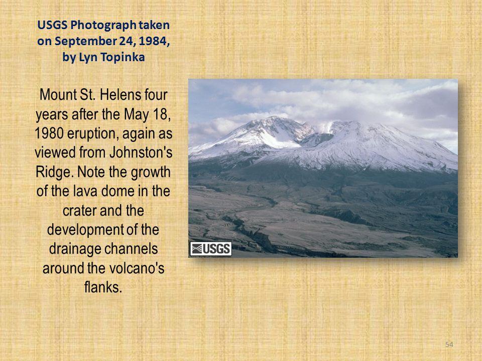 USGS Photograph taken on September 24, 1984, by Lyn Topinka Mount St.