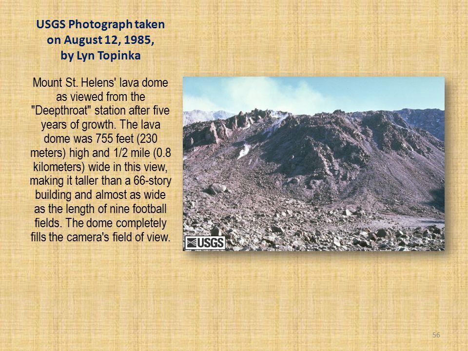USGS Photograph taken on August 12, 1985, by Lyn Topinka Mount St.