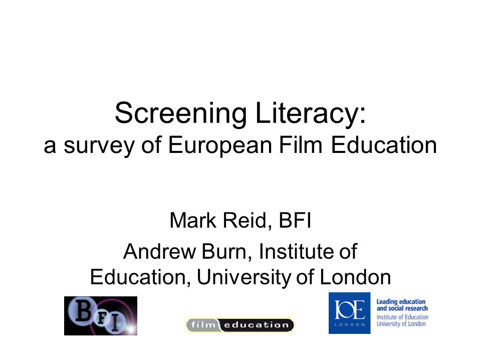 Definition of film literacy – all the forms and formats Agreed list of competencies in film literacy: guidelines (maybe following German version) Teacher training : towards competencies Clarify link between film literacy/education and media literacy/education Film literacy as ninth key competence (connection with media literacy) Outline of progression: journey / spiral of learning: research to map processes and pathways Support Film archives in providing research and education Canon of European film heritage: lists of recommended films.