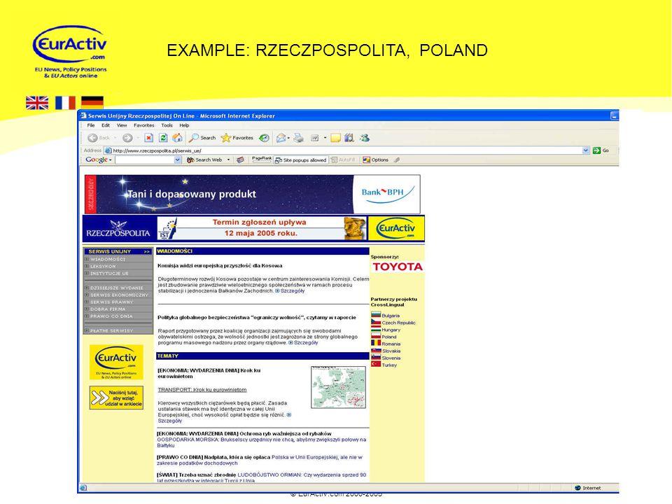 © EurActiv.com 2000-2005 14 EXAMPLE: RZECZPOSPOLITA, POLAND