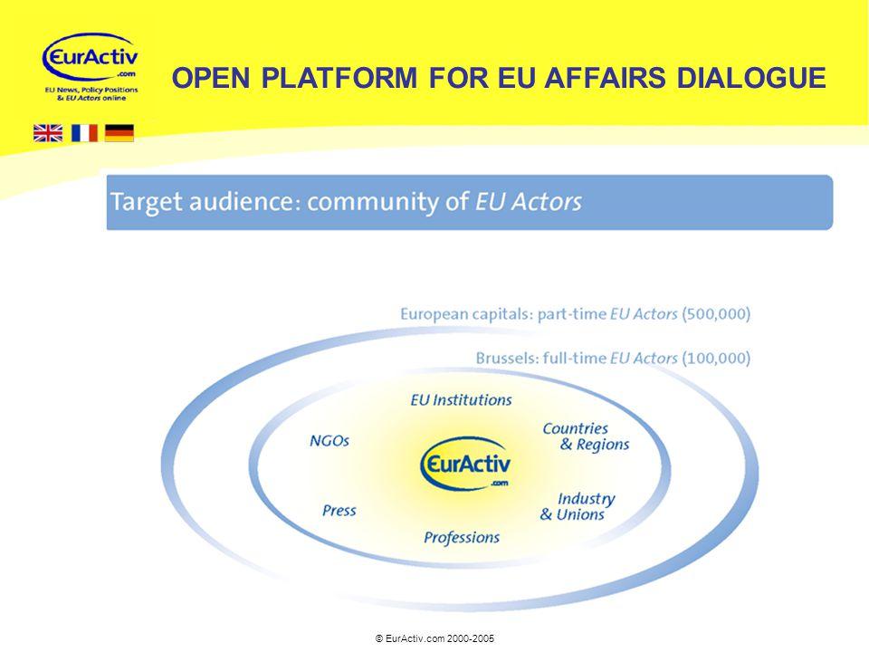 © EurActiv.com 2000-2005 4 OPEN PLATFORM FOR EU AFFAIRS DIALOGUE