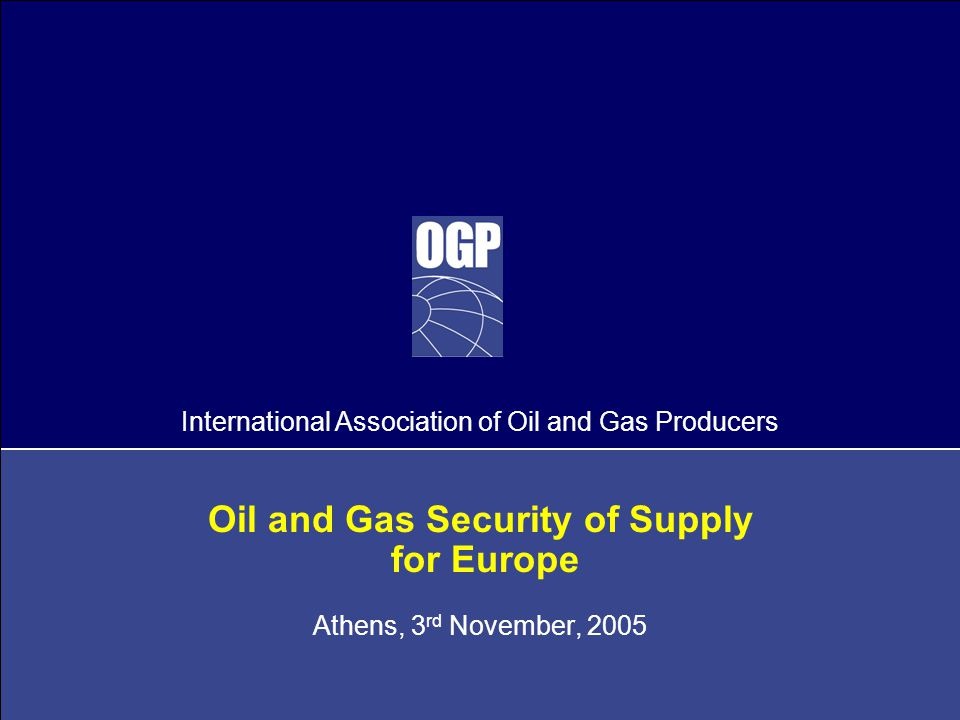 2 Agenda  Global Energy Demand  Oil and Gas Resources  EU Gas Issues  Investment, Demand Growth and Spare Capacity  Indigenous Production  Technology  Summary