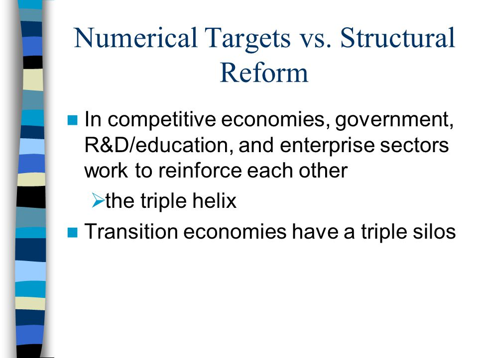 Numerical Targets vs.