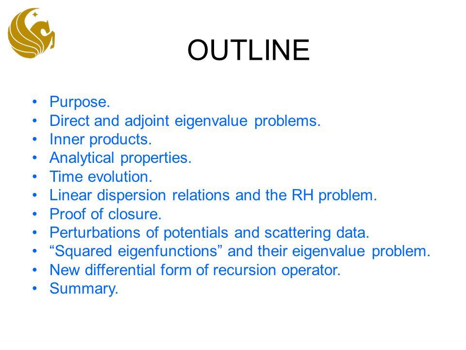 Perturbations: dT(z) Return to the eigenvalue problem.