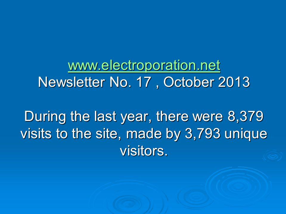 www.electroporation.net www.electroporation.net Newsletter No.