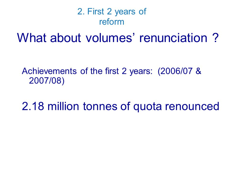 What about volumes' renunciation .