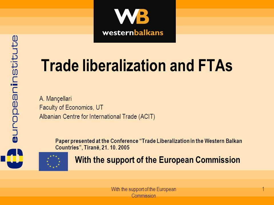2 1.Trade liberalization, structural reforms and integration - synergic processes 2.Bilateral FTAs and their conformity with MoU 3.Trade impacts of FTAs 4.Toward a regional free trade agreement?