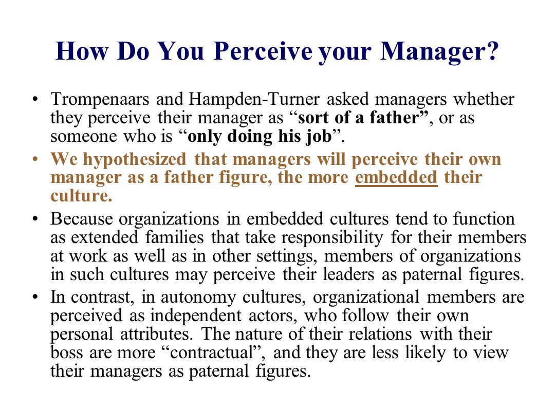 How Do You Perceive your Manager.