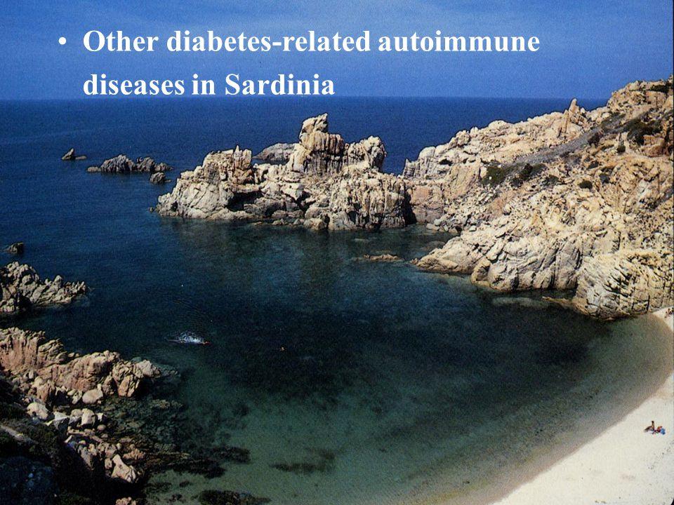 Other diabetes-related autoimmune diseases in Sardinia