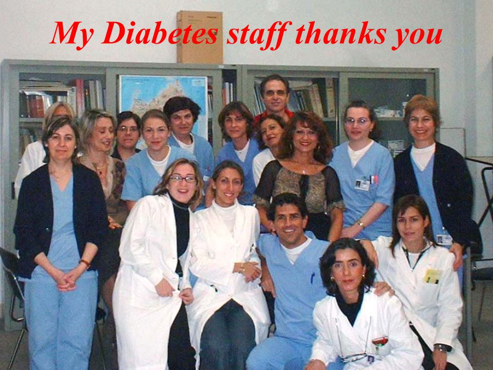 My Diabetes staff thanks you