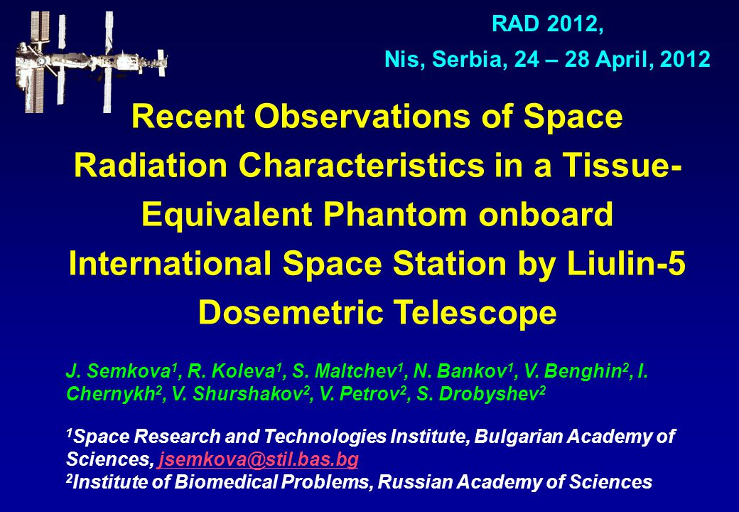 Recent Observations of Space Radiation Characteristics in a Tissue- Equivalent Phantom onboard International Space Station by Liulin-5 Dosemetric Telescope J.