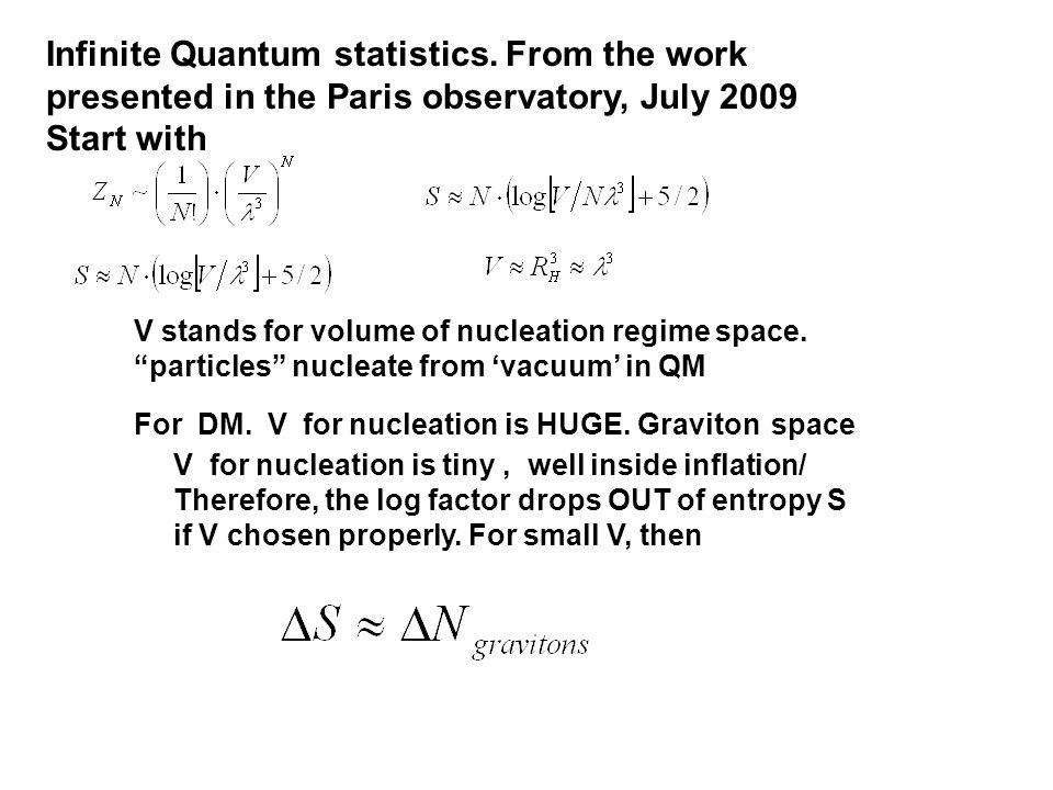 Infinite Quantum statistics.