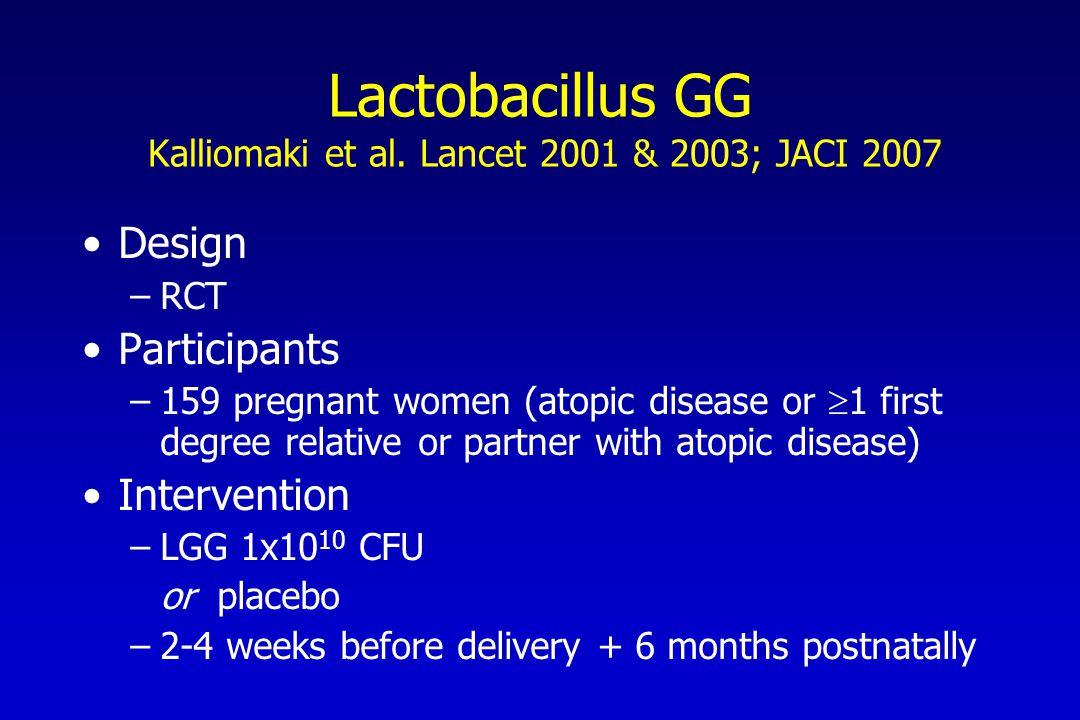 Lactobacillus GG Kalliomaki et al.