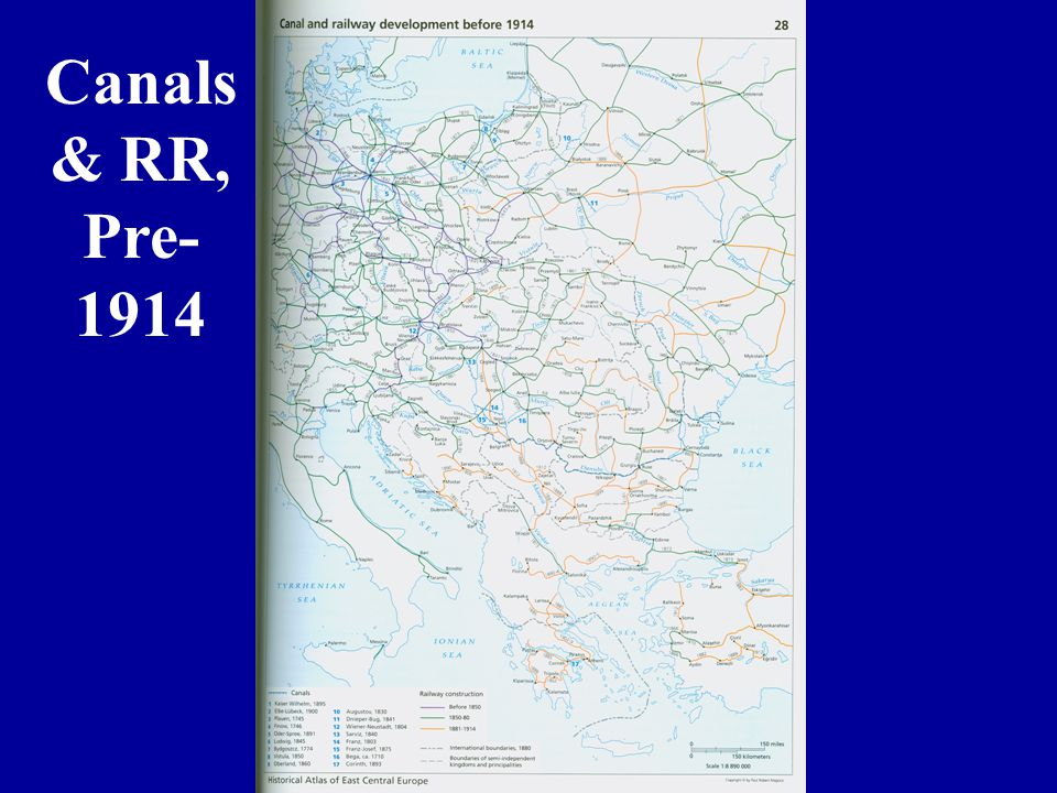 Canals & RR, Pre- 1914