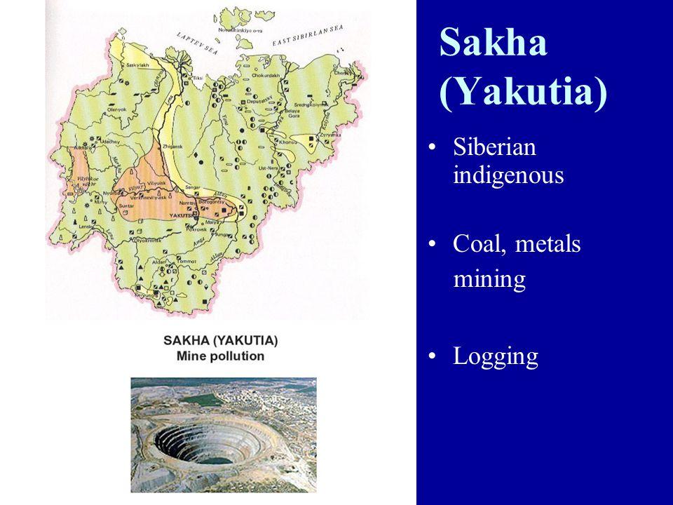 Sakha (Yakutia) Siberian indigenous Coal, metals mining Logging