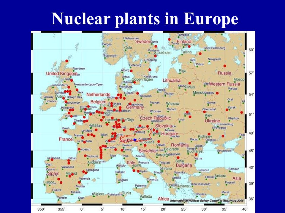 Nuclear plants in Europe