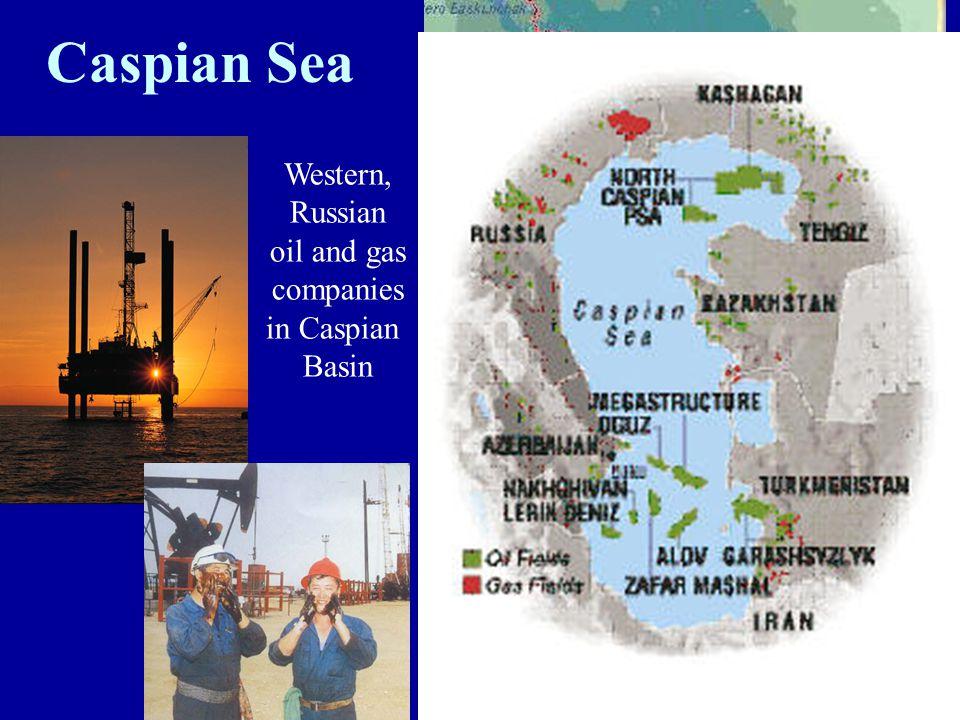 Caspian Sea Western, Russian oil and gas companies in Caspian Basin