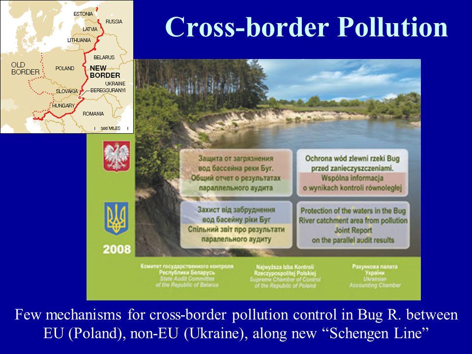 "Cross-border Pollution Few mechanisms for cross-border pollution control in Bug R. between EU (Poland), non-EU (Ukraine), along new ""Schengen Line"""