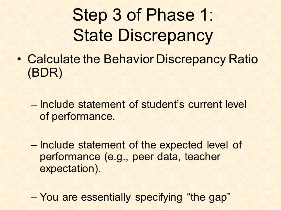 Collect only what you need to determine the discrepancy between what is expected (peer performance) and what is occurring (target student performance).