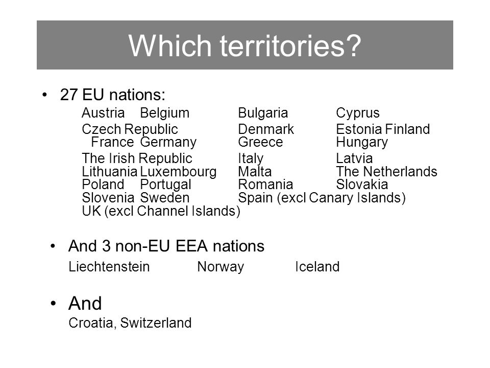 Which territories.