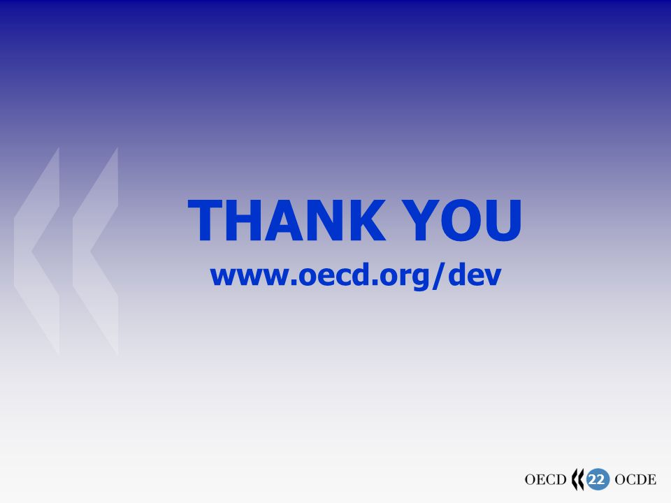 22 THANK YOU www.oecd.org/dev