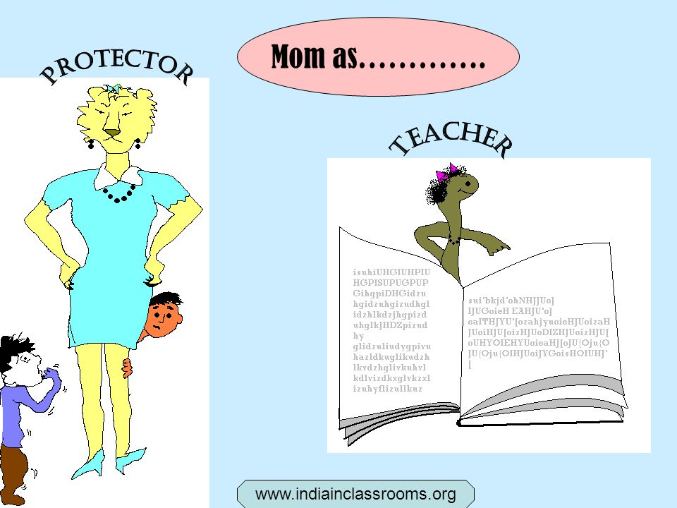Mom as…………. www.indiainclassrooms.org