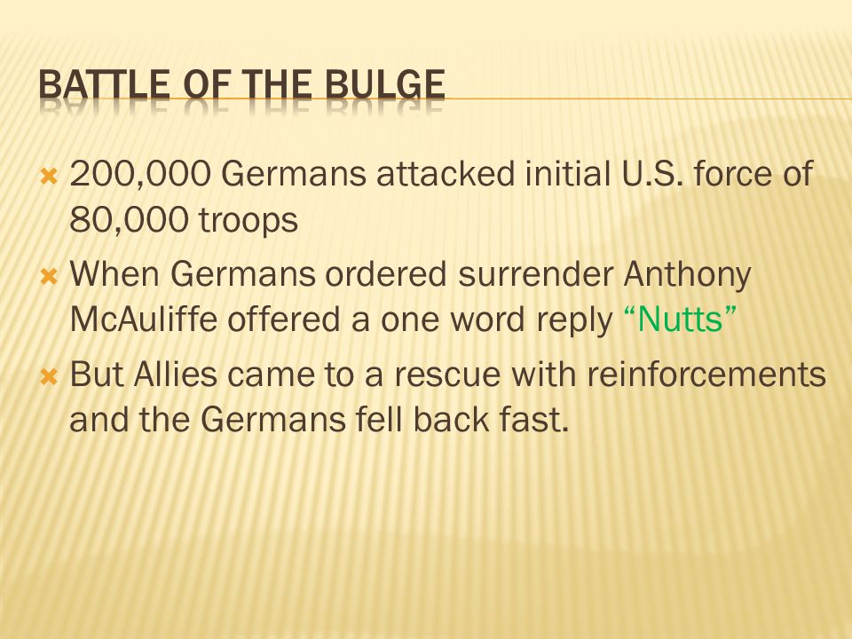  200,000 Germans attacked initial U.S.