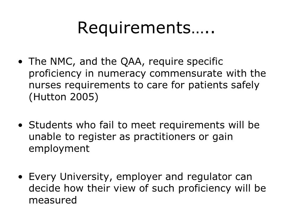 Requirements…..