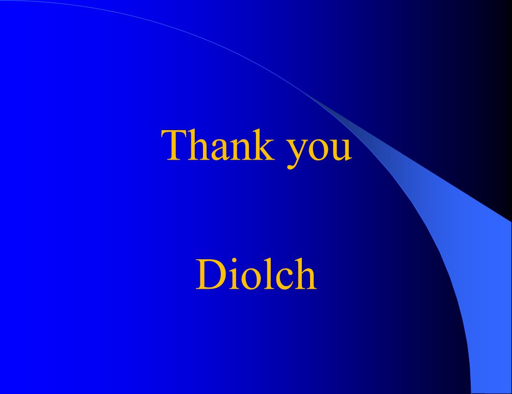 Thank you Diolch