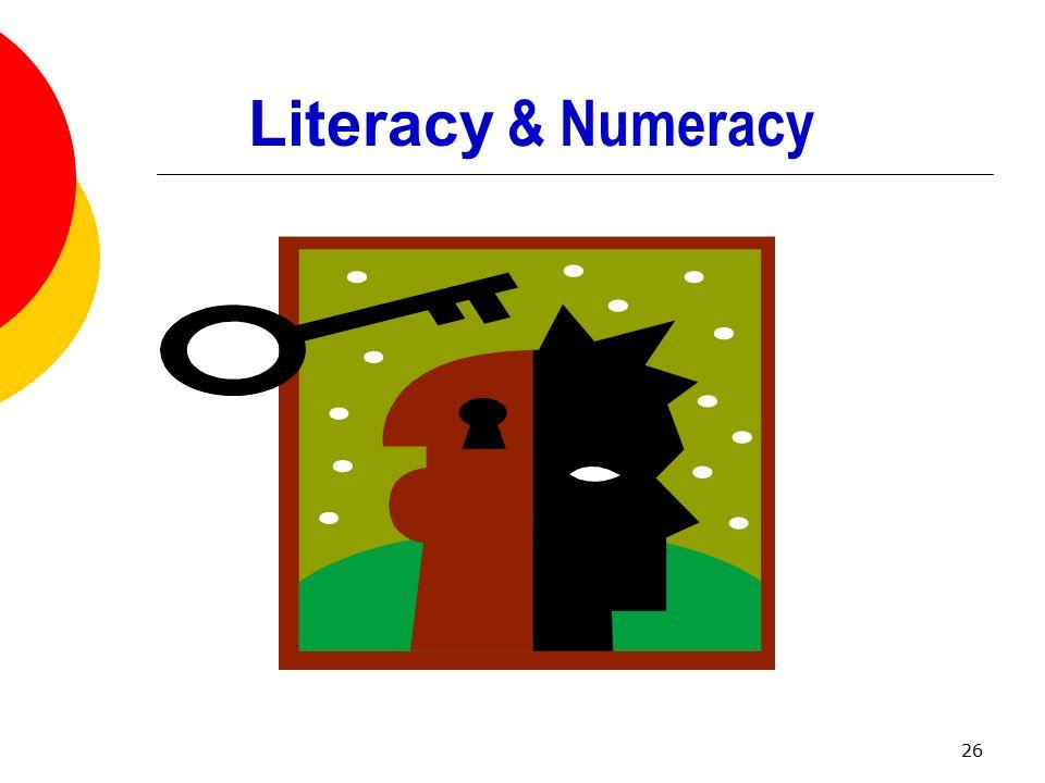26 Literacy & Numeracy