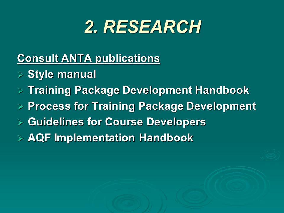 3.DESIGN/DEVELOPMENT Presentation and editing  Consistency.