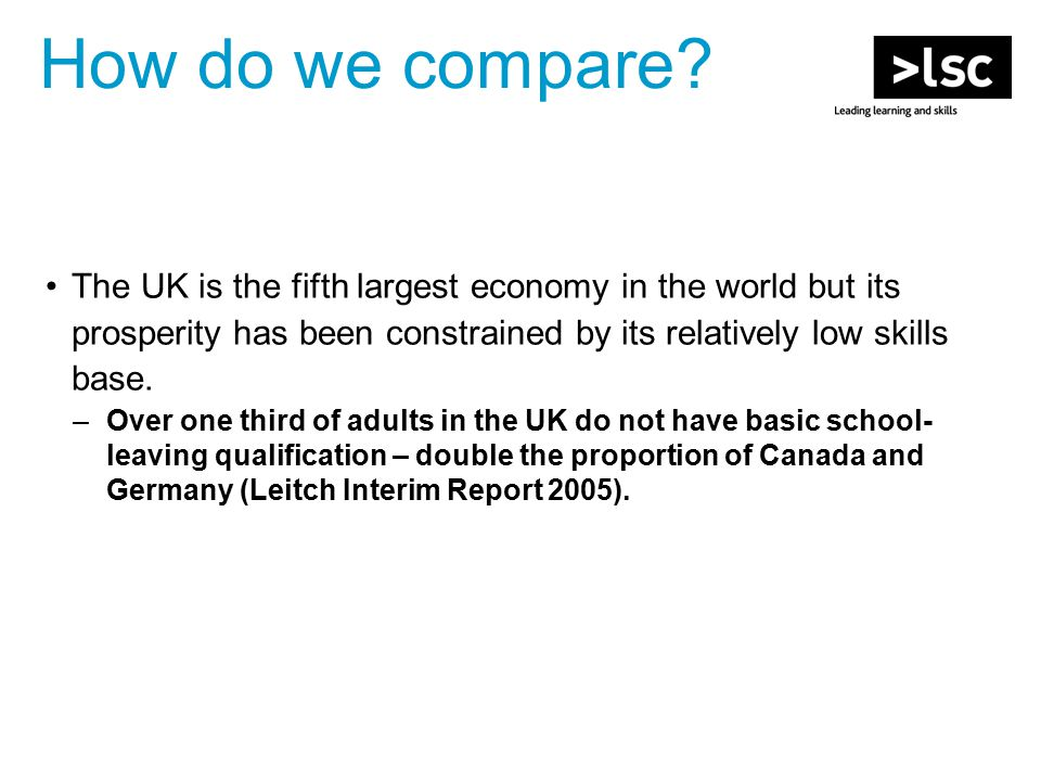 The UK is under increasing threat from international competitors.