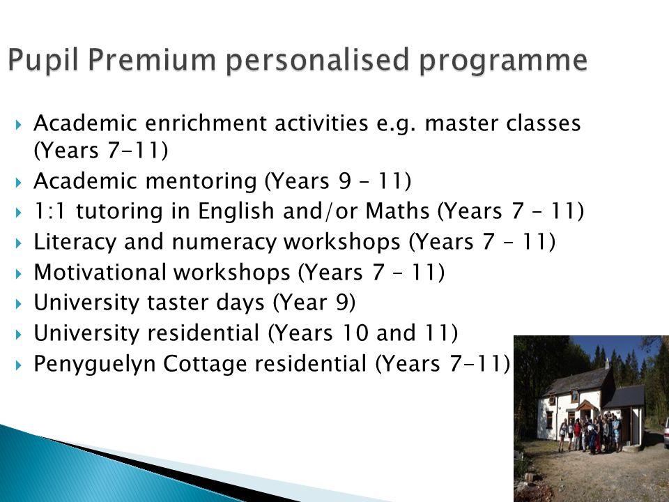  Academic enrichment activities e.g.