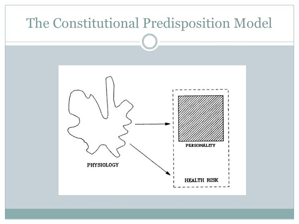 The Constitutional Predisposition Model
