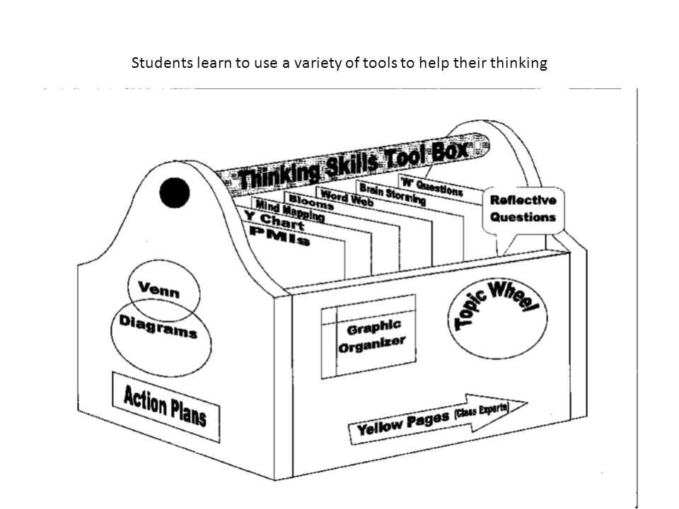 Students learn to use a variety of tools to help their thinking