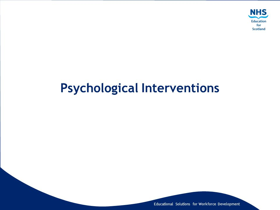 Educational Solutions for Workforce Development Psychological Interventions