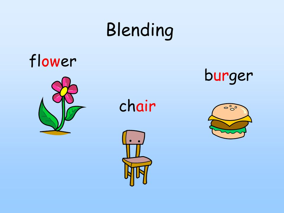 Blending burger chair flower